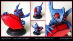 Mega-Tenefix / Mega-Sableye Sculpture by Lu0ren