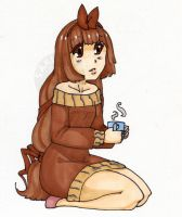 Coffee drinking Coffee by SakiCakes