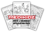 INKER and COLOURIST APPLICATION PACK by MediKidz