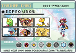 My Johto trainer card! Pokemon SoulSilver! by Espeon804
