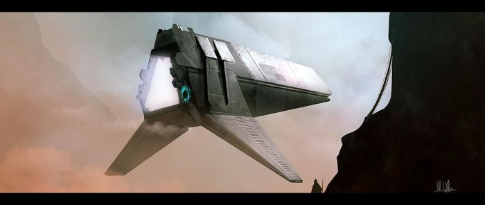 Space ship by AndreeWallin