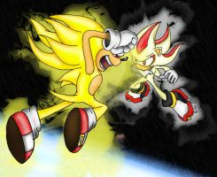 Sonic VS. Shadow by KaiThePhaux