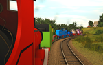 ''The engines puffed and pushed...'' by Nictrain123