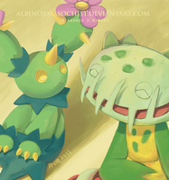 Maractus and Carnivine by AxMongrel