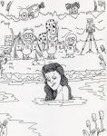 DSC Betty Page meets Minions by skyvolt2000