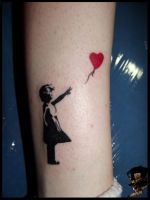 Banksy's girl with balloon by DarkArtsColective