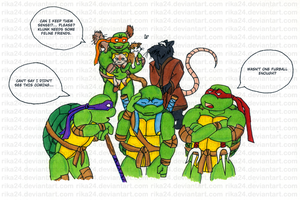 TMNT Comic with Prismacolor by Rika24