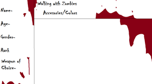 Walking with Zombies Referance Sheet by KingSikey