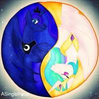 .: Moons Ying and the Suns Yang :. by ASinglePetal