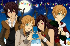 Holiday Dress Up Game [OCs] by FlameRiverAlchemist