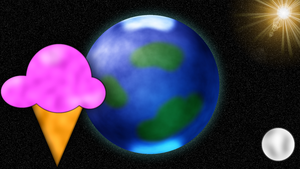 Ice Cream in Space Wallpaper by DefectiveDre