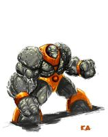 Rock Man Speed Paint by KomicKarl