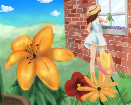 Flower garden by x-Charis-x