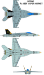 Boeing McDonnell Douglas FA-18 by bagera3005