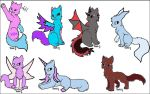 Hybrid Cats point adoptables open!!! by RainbowGURL-loves