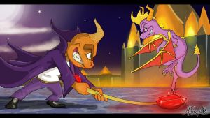 Spyro VS Ripto by McPasquet