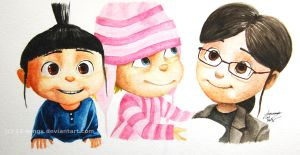 Despicable Me Girls by xiii-wings