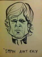 Tyrion Lannister caricature by j0epep