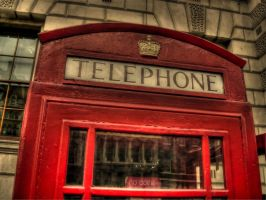 Telephone Booth HDR by papalamama