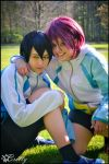 Free! Iwatobi Swim Club - Rin and Haruka by SharyNyanko