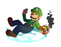 Luigi - Smash bros 2k15 Collab by lurils