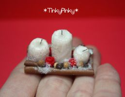christmas miniature candles by tinkypinky