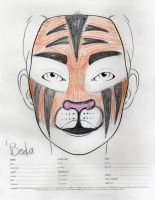 Angrboda tiger makeup sketch by toberkitty