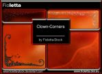 Clown Corners Brushes by fioletta-stock