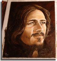 Ted Neeley Portrait in Oil by mkuppe