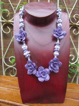 Purple Roses by Autumn-beads