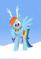 Rainbow Rudolph 2012 by PajamaHam