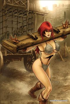 Red Sonja 68 Cover Colors by FabianoNeves