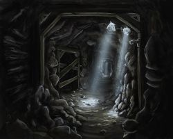 Dark mine by LandscapeRunner