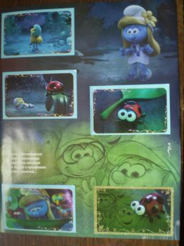 Smurfs the lost village stickers by HeinousFlame