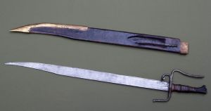 Falchion with scabbard and by-knife by SSSF