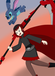 Ruby and Stitch by Dracoknight545