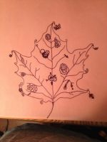 Steampunk leaf by Melissapersonette