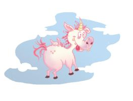 ugly unicorn loves you by Prydester