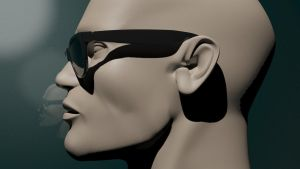 3d head modeling 3ds Max wip 2 by Blodgrass