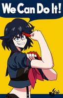 Ryuko Matoi- We Can Do It! by mergeritter