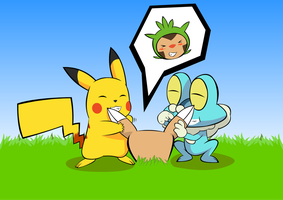 Chespin Tickle by Alphaws