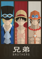 One Piece: Brothers by MinimallyOnePiece