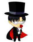 Commission: Chibi Tuxedo Mask for Katie0513 by MrSniffy