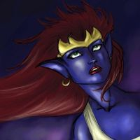 Pensive Demona by travelingpantscg