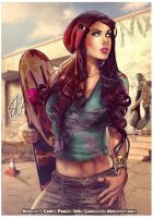 SK8TER PIN-UP by J-Estacado