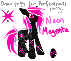 MLP - Adoptable Neon Magenta [CLOSED] by CindryTuna