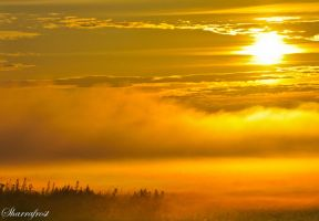 Fire on the Fog III by Brian-B-Photography