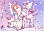 ACEOs Absol and Sylveon by RobanCrow