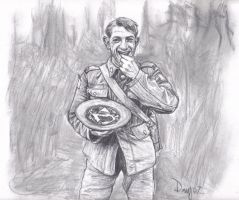 Canadian Soldier Eating Berry by AngusMcLeod