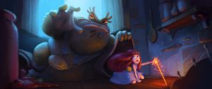 thumbelina and the toad by splinterD